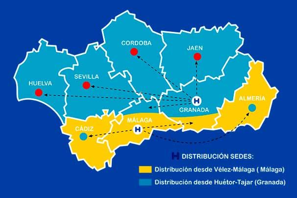 Enviamos a toda Andalucía